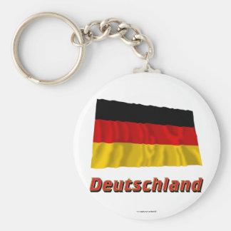 MIT Namen Deutschland Fliegende Flagge Standard Runder Schlüsselanhänger
