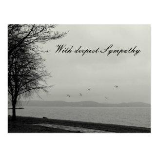 Mit tiefstem Beileid Postkarte
