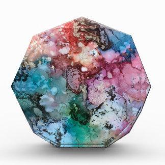 Mit Tinte geschwärzte Einhornregenbogengalaxie Acryl Auszeichnung