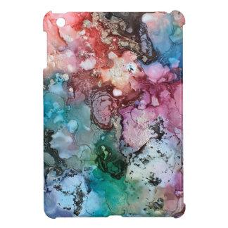 Mit Tinte geschwärzte Einhornregenbogengalaxie iPad Mini Hülle