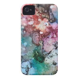 Mit Tinte geschwärzte Einhornregenbogengalaxie iPhone 4 Hüllen