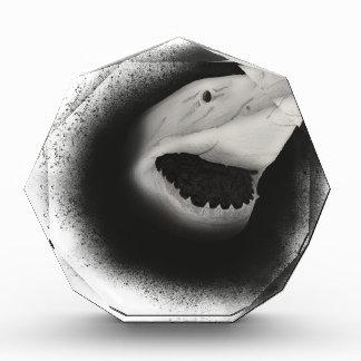 Mit Tinte geschwärzter Haifisch-Angriff Acryl Auszeichnung