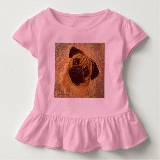 Mit Tinte geschwärzter Mops Kleinkind T-shirt