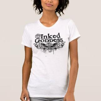 Mit Tinte geschwärztes Göttin-grafische T-Shirt