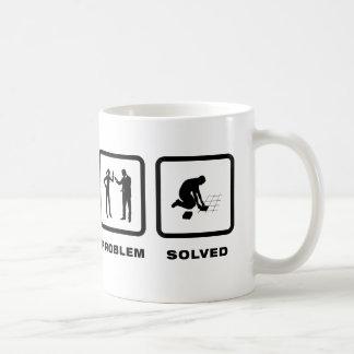 Mit Ziegeln decken Kaffeetasse