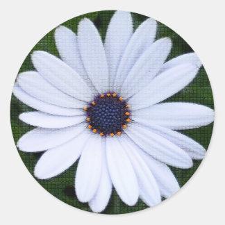 Mit Ziegeln gedeckte Blume Runder Aufkleber
