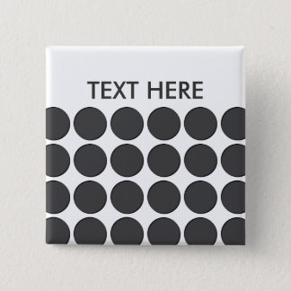 Mit Ziegeln gedeckte dunkelgraue Punkte Quadratischer Button 5,1 Cm