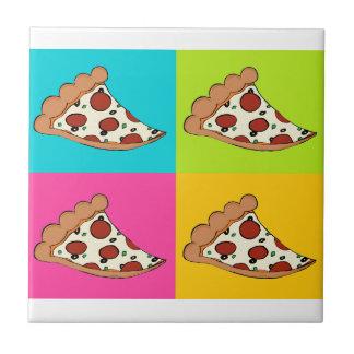 Mit Ziegeln gedeckter Entwurf der Pizza Scheiben Fliese