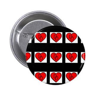 mit Ziegeln gedeckter i-Liebedraufgängerknopf Runder Button 5,7 Cm