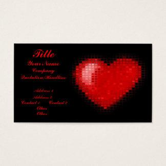 Mit Ziegeln gedecktes Mosaik-Herz (helles Rot) Visitenkarte