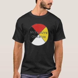 Mitakuye Oyasin die dunklen Farben Lakota Männer T-Shirt