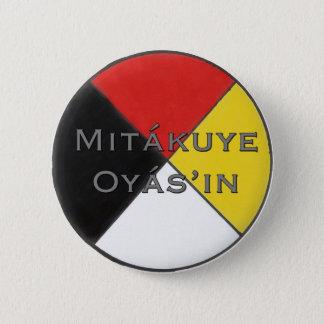 Mitakuye Oyasin mein ganzes Beziehungs-Button in Runder Button 5,1 Cm