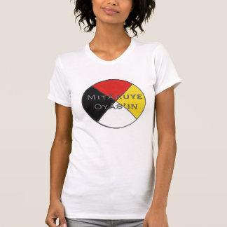 Mitakuye Oyasin wir sind alle Frauen bezogenes T-Shirt