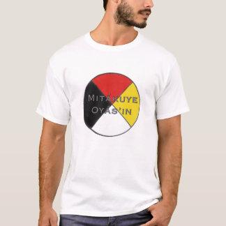 Mitakuye Oyasin wir sind alle Männer bezogenes T-Shirt