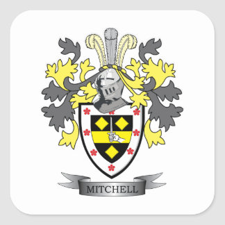 Mitchell Familienwappen-Wappen Quadratischer Aufkleber