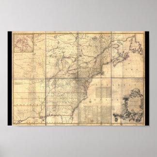Mitchell Karten-Amerika-Plakat 1750 Poster