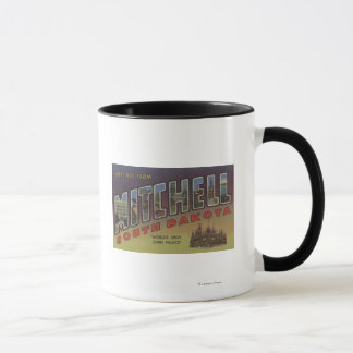 Mitchell, South Dakota - große Buchstabe-Szenen Tasse