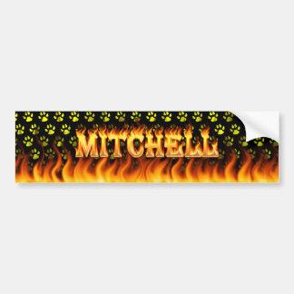 Mitchell wirkliches Feuer und Autoaufkleber