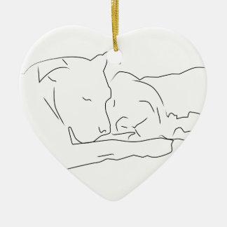 Mitfühlend in der Liebe Keramik Ornament