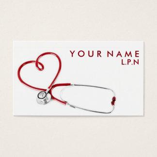 Mitfühlende Krankenschwester-Visitenkarte Visitenkarte
