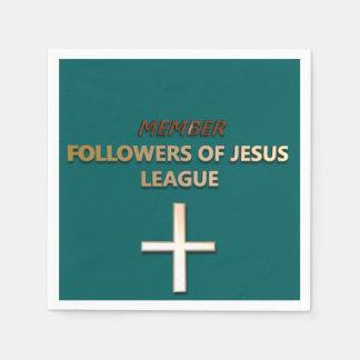 Mitglied: Nachfolger von Jesus-Liga Servietten