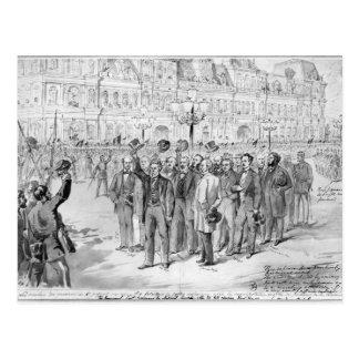 Mitglieder der provisorischen Regierung Postkarte
