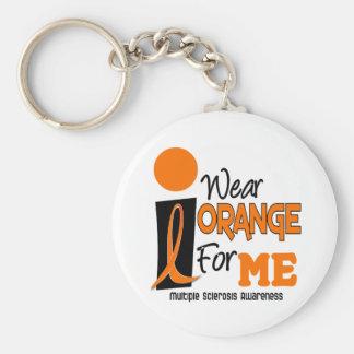 Mitgliedstaat-multiple Sklerose trage ich Orange f Standard Runder Schlüsselanhänger