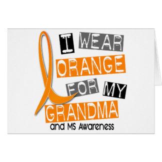 Mitgliedstaat-multiple Sklerose trage ich Orange Karte