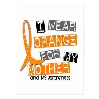Mitgliedstaat-multiple Sklerose trage ich Orange Postkarte