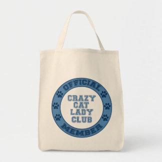 Mitgliedsverrückte Katzen-Dame Club Logo Tragetasche