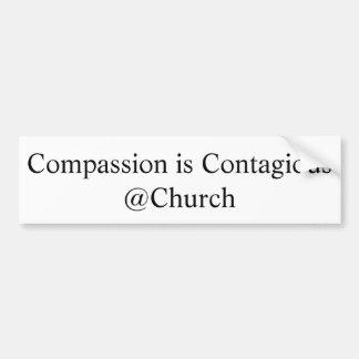 """""""Mitleid ist ansteckendes @Church"""" Aufkleber Autoaufkleber"""