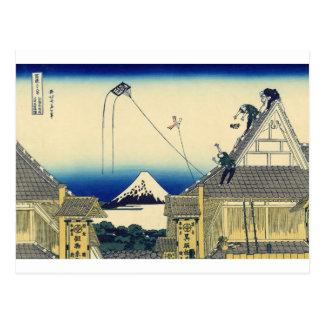 Mitsui Geschäft auf Suruga Straße in Edo durch Postkarte