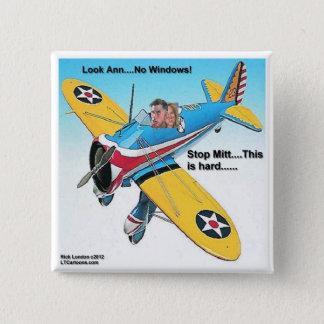 Mitt-fensterloses Flugzeug-lustige Geschenke u. Quadratischer Button 5,1 Cm