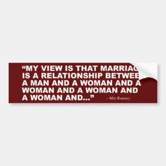 Mitt Romney auf homosexueller Ehe Autoaufkleber