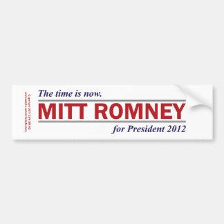Mitt Romney für Präsidenten 2012 die Zeit ist Autoaufkleber