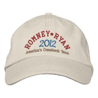 Mitt Romney Paul Ryan 2012 Bestickte Baseballkappe