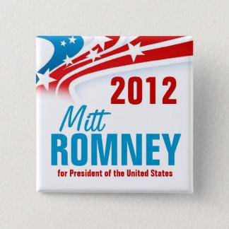 Mitt Romney Quadratischer Button 5,1 Cm