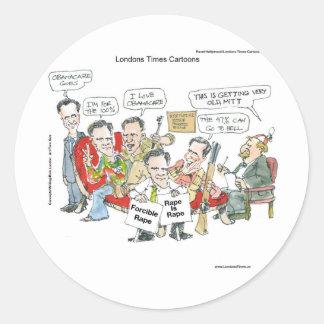 Mitt Romney Therapie-in den lustigen Runder Aufkleber