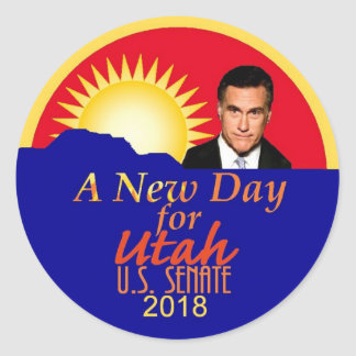 Mitt Romneysenats-Aufkleber 2018 Runder Aufkleber