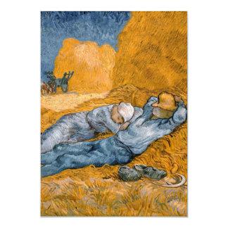 Mittag - Erholung von der Arbeit durch Vincent van 12,7 X 17,8 Cm Einladungskarte