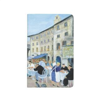 Mittag in einem Marktplatz Toskana Taschennotizbuch