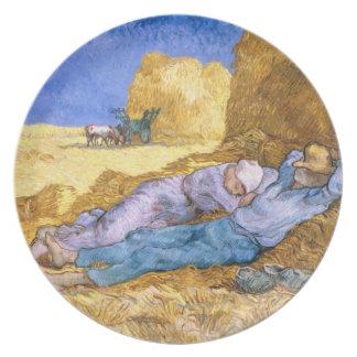 Mittag Vincent van Goghs |, der Siesta, nach Hirse Melaminteller