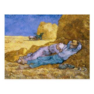 Mittag Vincent van Goghs |, der Siesta, nach Hirse Postkarte