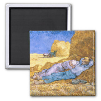 Mittag Vincent van Goghs |, der Siesta, nach Hirse Quadratischer Magnet