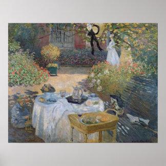 Mittagessen Claude Monets |: Monets Garten Poster