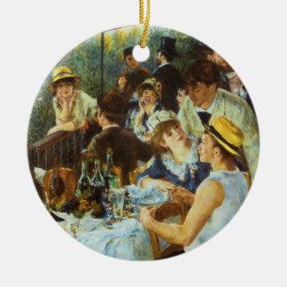Mittagessen des Bootfahrt-Party durch Pierre Rundes Keramik Ornament