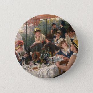Mittagessen des Bootfahrt-Party - Renoir Runder Button 5,7 Cm