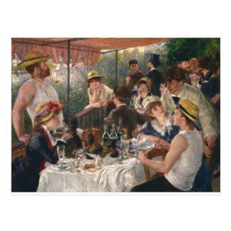 Mittagessen des Bootfahrt-Party Vintag - Renoir Postkarte