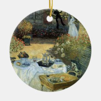 Mittagessen durch Claude Monet, Vintager Keramik Ornament