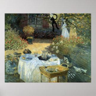 Mittagessen durch Claude Monet, Vintager Poster
